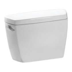"""Toto - Toto ST743S#01 Cotton White Drake 12"""" G-Max Toilet Tank. - Toto ST743S#01 Cotton White Drake 12"""" G-Max Toilet Tank Only. The Drake series gives a simple, sleek style to any bath with its variety of options and finishes. This G-Max Drake tank from Toto features a 1.6 Gallon flushing system. G-Max's extra-wide 3-Inch flush valve and wide 2-1/8-Inch glazed trapway offer increased flow, drawing water into the bowl more quickly, and then away more forcefully . And with G-Max's powerful siphon jet, the system makes sure what goes down stays down."""