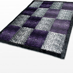 """Blancho Bedding - Onitiva - [Devil Nut] Animal Style Patchwork Throw Blanket (61""""-86.6"""") - This animal skin patchwork throw blanket measures 61 by 86.6 inches with comfortable filling. Comfort, warmth and stylish designs. Animal throw blankets are available in Leopard, Tiger, Cow, Dalmatian, Zebra, Animal  Patchwork, etc. Whether you are adding the final touch to your bedroom or rec-room these patterns will add a little whimsy to your decor. This animal skin throw blanket will make a fun additional to any room and are beautiful draped over a sofa, chair, bottom of your bed and handy to grab and snuggle up in when there is a chill in the air. They are the perfect gift for any occasion! Keep one in your car for staying warm at  outdoor sporting events. Place one on your couch or favorite upholstered chair. Have extras on hand for sleepovers and overnight guests. Machine wash and tumble dry for easy care. Will look and feel as good as new  after multiple washings!"""