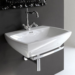 ArtCeram - ArtCeram | Jazz Wall-Hung Washbasin 70 - Made in Italy by Art Ceram.A part of the Jazz Collection. The classic design and timeless appeal of the Jazz Wall-Hung Washbasin 70 will upgrade any bathroom undergoing an renovation. Made from a durable and stain resistant ceramic construction, this sturdy yet elegant sink will withstand daily use even in bathrooms with high traffic. Select the ideal color, design, and accessories to complete your luxury bath space. Product Features: