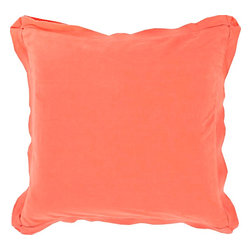 """Surya - Surya TF-010 Simple Sophistication Pillow, 20""""x20"""", Down Feather Filler - Fill your room with cool, calming comfort with these vibrant pillows! Featuring a burst of charming color in brilliant coral, this piece will fashion a look that is both functional from space to space as well as aesthetically pleasing to all who it encounters. This pillow contains a zipper closure and provides a reliable and affordable solution to updating your home's decor. Genuinely faultless in aspects of construction and style, this piece embodies impeccable artistry while maintaining principles of affordability and durable design, making it the ideal accent for your decor."""