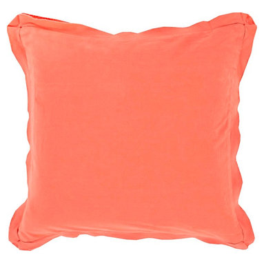 """Surya - Surya TF-010 Simple Sophistication Pillow, 20"""" x 20"""", Down Feather Filler - Fill your room with cool, calming comfort with these vibrant pillows! Featuring a burst of charming color in brilliant coral, this piece will fashion a look that is both functional from space to space as well as aesthetically pleasing to all who it encounters. This pillow contains a zipper closure and provides a reliable and affordable solution to updating your home's decor. Genuinely faultless in aspects of construction and style, this piece embodies impeccable artistry while maintaining principles of affordability and durable design, making it the ideal accent for your decor."""