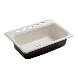 KOHLER - KOHLER K-5832-5U-96 Bakersfield Undercounter Sink with Installation Kit - KOHLER K-5832-5U-96 Bakersfield Undercounter Sink with Installation Kit in Biscuit