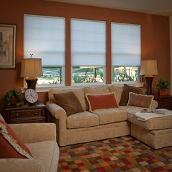 Simple Fit - Simple Fit Pop-In Cellular Shade: Light Filtering Single Cell - Simple Fit Pop-In Cellular Shades provide simple no-tools installation and a perfect custom fit for your window.  The single cellular shades are available in 30 light filtering fabrics.
