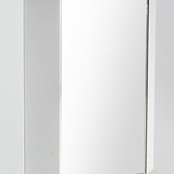 Fresca - Coda Corner Medicine Cabinet in White - Product Material: Pvc, Glass. Finish: White. Mirror Door. Perfect Match for FVN5082WH and FVN5084WH Fresca Vanities. 17.75 in. W x 17.75 in. D x 23.5 in. HThis corner medicine cabinet comes with a White finish. It features 2 shelves and a mirrored door.