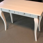 small white desk from reclaimed oak - Made by http://www.ecustomfinishes.com