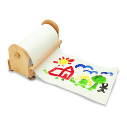 """Guidecraft - Guidecraft Birch Paper Center with 12"""" X 300' Paper Roll - Guidecraft - Easels - G97047 - This handy solid wood paper center sits on the floor or table.Features:"""