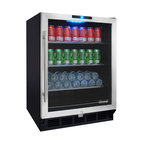 Vinotemp - Vinotemp - VT-58 Series Beverage Refrigerator - Keep all of your favorite beverages at the perfect serving temperature with the Vinotemp VT-58 Series Beverage Refrigerator. Roughly the size of a dishwasher, the VT-BC58SB10 model beverage cooler features a digital display with push button operation, 3 removable wire shelves, small storage bin, interior light, and built-in capabilities.