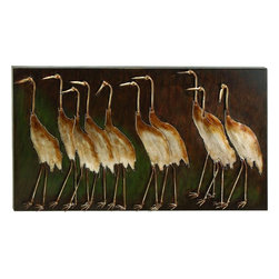 "Benzara - Metal Bird Wall Plaque - Metal Bird Wall Plaque is an excellent anytime low priced wall decor upgrade option that is high in modern age decor fashion.; Material: Rust free premium grade metal alloy; Color: Brown over deep brown back ground; Exhibits special liking for natural wall art; Classic wall decoration; Designed for elite class decor enthusiasts; Dimensions: 43""W x 24""H"