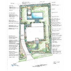 Traditional Site And Landscape Plan by Barry Block Landscape Design & Contracting, Inc.