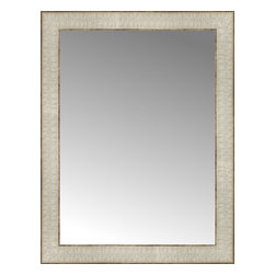 """Posters 2 Prints, LLC - 17"""" x 22"""" Libretto Antique Silver Custom Framed Mirror - 17"""" x 22"""" Custom Framed Mirror made by Posters 2 Prints. Standard glass with unrivaled selection of crafted mirror frames.  Protected with category II safety backing to keep glass fragments together should the mirror be accidentally broken.  Safe arrival guaranteed.  Made in the United States of America"""