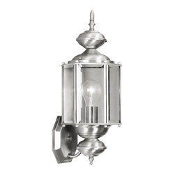 Livex - Livex Outdoor Basics Outdoor Wall Lantern 2006-91 - Finish: Brushed Nickel