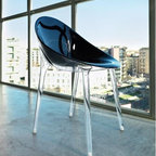 Mr. Impossible Chair by Kartell - This aptly named chair, Mr Impossible, designed by Kartell and Philippe Starck, is a synthesis of the most