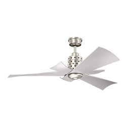 "Kichler - Kichler 300163NI Frey 56"" Indoor Ceiling Fan 3 Blades - Remote, Light Ki - Kichler 300163 Frey Ceiling Fan"