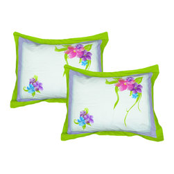 Store51 LLC - Disney Floral Pillow Shams Set Magic Art Bedding Accessories - FEATURES: