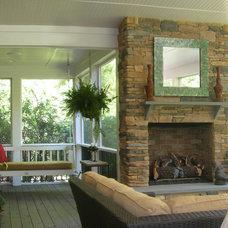 Traditional Porch by Terre Design Studio