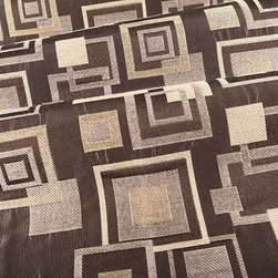 Framed Upholstery Fabric in Brownie - Framed Upholstery Fabric in Brownie is a discount geometric upholstery with brown, beige, tan, and taupe squares that create movement on this interior designer fabric. This modern fabric is perfect for contemporary interior designs. Save on upholstery projects by buying this high quality fabric at the deeply discounted price in FabricSeen's online fabric store. Made from a blend of 57% polyester and 43% rayon, this durable upholstery fabric passes 21,000 double rubs on the Wyzenbeek Abrasion Test. Cleaning Code: S; UFAC: Class I; passes CA117 Test. Width 54″; repeat 19″ V x 15 1/2″ H.