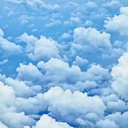 White Clouds Mural Medium - Removable Cloud Wall Mural. Create your own piece of the sky. Our removable canvas wallpaper has no paste and leaves no mess. Apply yourself again and again.