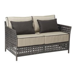 Zuo - Zuo Pinery Beige Sofa - Complete your patio decor with these magnificent beige sofa. A weaved pattern creates a textured design that completes this rough yet refined sofa for countless days of comfort in the sun.
