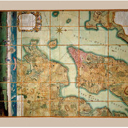 Buyenlarge - Plan of the City of New York 12x18 Giclee on canvas - Series: Antique World Maps