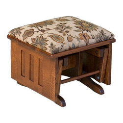 Chelsea Home Furniture - Chelsea Home Hochstetler Glider Ottoman - Bird Standard - Chelsea Home Furniture proudly offers handcrafted American made heirloom quality furniture, custom made for you.