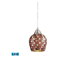 Elk Lighting - Elk Lighting 528-1MLT-LED Fusion 1-LED Light Pendant with Multicolor - Elk products are highly detailed and meticulously finished by some of the best craftsmen in the business.