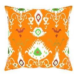 DD - Orange Tribal Ikat Outdoor Pillow - The Tribal Ikat outdoor pillow adds a bold and colorful vibe to your outside space.