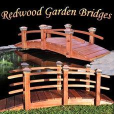 Contemporary Outdoor Decor by www.RedwoodGardenBridges.com