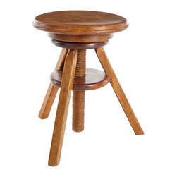Piano Player's Wooden Stool - You'll sing in the key of C when this stool arrives at your door! No minor piece, it is modeled after a typical piano stool and will make a major impact in any room. Whether you have a piano or not, you'll simply love this stool for its grand looks and versatility! Color of sheesham wood varies.