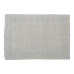 Peshawar Oriental Rug, 100% Wool 5'X8' Stone Wash Hand Knotted Rug SH11014 - Hand Knotted Oushak & Peshawar Rugs are highly demanded by interior designers.  They are known for their soft & subtle appearance.  They are composed of 100% hand spun wool as well as natural & vegetable dyes. The whole color concept of these rugs is earth tones.