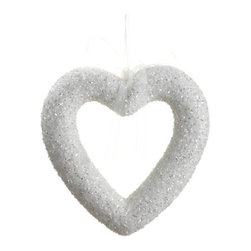 Silk Plants Direct - Silk Plants Direct Glitter Open Heart Ornament (Pack of 6) - Pack of 6. Silk Plants Direct specializes in manufacturing, design and supply of the most life-like, premium quality artificial plants, trees, flowers, arrangements, topiaries and containers for home, office and commercial use. Our Glitter Open Heart Ornament includes the following: