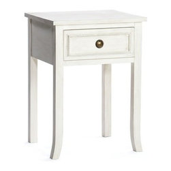Kingston Krafts - Cottage Nightstand - Made in USA - A cottage-style nightstand ideal for any place you call home. Hand crafted and finished by artisans, there's a lot of American furniture know-how poured into this little bedside table. Made of wood, ecofriendly paint and lacquer, you'll have plenty of space for books and personal items in this cozy nightstand.