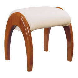 Global Furniture - Global Furniture USA Emily Stool in Cherry - The Emily Bedroom collection is finished in a high gloss cherry. The rich color and elegant curves will compliment any home. Not only is this bedroom collection stylish but it also provides ample storage.