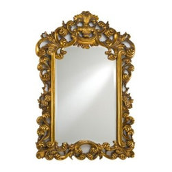 Timeless Traditions Ornate Wall Mirror - 24W x 36H in. - Make an impression while adding light and spaciousness in any room with the Timeless Traditions Ornate Wall Mirror. This rectangular mirror features a highly detailed wood frame of ornate filigree and leaf patterns that curl and twist around the beveled edge mirror. Its distinctive style is complemented by your choice of antique silver antique white or antique gold finishes. Perfect for any living space bedroom den or foyer.About AfinaAfina Corporation is a manufacturer and importer of fine bath cabinetry lighting fixtures and decorative wall mirrors. Afina products are available in an extensive palette of colors and decorative styles to reflect the trends of a new millennium. Based in Paterson N.J. Afina is committed to providing fine products that will be an integral part of your unique bath environment.