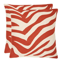 """Safavieh - Joseph Decorative Pillow Covers (Set of 2) - Adorn your bed, sofa, or favorite reading chair with a refreshing geometric design from Safavieh. This pillow will marry perfectly with your existing décor, adding lasting style for years to come. Features: -Material: 100% Cotton Canvas [Hand-Stitched Embroidery]. -Eye-catching. -Geometric design. -Does not include pillows. Specifications: -18"""" Dimensions: 18"""" H x 18"""" W x 2.5"""" D. -22"""" Dimensions: 22"""" H x 22"""" W x 2.5"""" D."""
