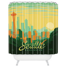 Midcentury Shower Curtains by DENY Designs