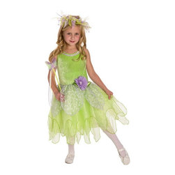 Little Adventures - Little Adventures Tinkerbelle Costume - 13131 - Shop for Children Costumes from Hayneedle.com! It s easy to flutter off to Neverland with the Little Adventures Tinkerbelle Costume. Ideal for playtime or even Halloween this costume has a bright green stretchy crushed velvet bodice with two layers of bright green organza over a china silk skirt. Silver petals and silver flowers complete the design. In a variety of sizes.Sizing Details:Small fits ages 1-3 yrs.Medium fits ages 3-5 yrs.Large fits ages 5-7 yrs.X-Large fits ages 7-9 yrs.About Little AdventuresWith humble beginnings Little Adventures was founded over 10 years ago by Jennifer Harrison (mom of 10) and Heather Granata (mother of 3) who began sewing and selling dress-up clothing at local craft fairs. Little Adventures then evolved into a successful business that aims to bring imagination and joy to children the world over. Their products are crafted of no-itch fabrics that are durable machine washable and the best in quality. And the critics agree - Little Adventures products have earned accolades from Creative Child Magazine Fat Brain Toy Awards The Toy Man and more.