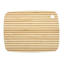 Large Classic Pin Stripe Bamboo Cutting Board - The cutting board gets a fashionable update with gorgeous stripes.
