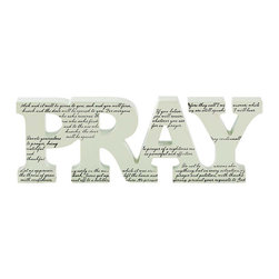 Dicksons - Pray Tabletop Word - Spread a warm message and brighten your mantel or tabletop with the clean contemporary look of this inspirational word block.   9.75'' W x 4'' H x 1'' D Medium-density fiberboard Imported