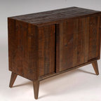 Versailles Chest - A rustic mid century modern design, this piece is built with all reclaimed rough sawn antique pine and oak from Versailles, NC.  Hand Built by Reclamation Company in Hickory, NC.