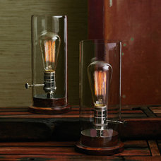 eclectic table lamps by Greige