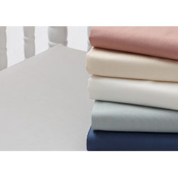 """Coyuchi - 220 Percale Fitted Sheet Crib Misty Aqua - Pure organic cotton in a smooth, durable 220-thread-count percale makes these sheets a must-have for any linen closet. Wonderfully crisp, yet soft on the skin, they're perfect for warm nights—or warm sleepers. In addition to classic white and ivory, they come in a range of nature-inspired hues, washed back to look as soft as they feel.Designed to mix and match, our crib sheet creates a comforting nest for baby's first dreams. The smooth 220-thread-count percale comes in classic white and ivory as well as a range of nature-inspired hues, created with nontoxic pigments and washed back to look as soft as they feel. Designed to fit securely and snugly on any crib mattress with a full elastic and 8"""" pockets."""