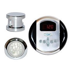 Steam Spa - Steam Spa INPKCH SteamSpa Indulgence Control Kit in Chrome - This Indulgence bundle includes all you need to get your SteamSpa Generator up and running providing you with a luxurious steam sauna bath with added convenience. Included is the elegantly simple steamhead with an aroma reservoir. Just add a couple drops of your favorite fragrance and soon you will be enveloped with a soothing aroma scented steam. Also included is the essential single control panel. The control panel offers a digital display and allowing you to adjust the steam bath to your preference. Additionally, SteamSpa's LED light is also included. This bundle is tailored to work with any of SteamSpa's Steam Generators.