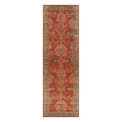Jaipur Rugs - Jaipur Rugs Hand-Tufted Arts and Craft Wool Orange/Brown Runner, 2.5 x 12ft - The Poeme Collection takes traditional designs and re-invents them in a palette of modern, highly livable colors. Each design is made from premiere hand-spun wool and crafted with precision for the look and feel of a hand-knotted rug, at the more affordable cost of a hand-tufted. Poeme will effortlessly coordinate individual design elements to finish any room.