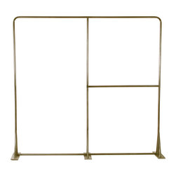 Milan Garment Rack, Antique Brass W/ Full Length - This sturdy two level commercial grade garment rack gives you over 24 linear feet of hanging space.