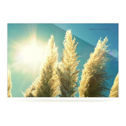 """Kess InHouse - Robin Dickinson """"Ornamental Grass"""" Blue Tan Metal Luxe Panel (24"""" x 36"""") - Our luxe KESS InHouse art panels are the perfect addition to your super fab living room, dining room, bedroom or bathroom. Heck, we have customers that have them in their sunrooms. These items are the art equivalent to flat screens. They offer a bright splash of color in a sleek and elegant way. They are available in square and rectangle sizes. Comes with a shadow mount for an even sleeker finish. By infusing the dyes of the artwork directly onto specially coated metal panels, the artwork is extremely durable and will showcase the exceptional detail. Use them together to make large art installations or showcase them individually. Our KESS InHouse Art Panels will jump off your walls. We can't wait to see what our interior design savvy clients will come up with next."""