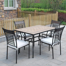 outdoor dining table chair set - Table: 120*80*H74cm        90/100KGs