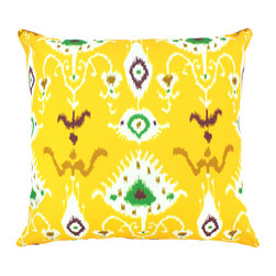 """DD - Tribal Ikat Outdoor Pillow 20"""" x 20"""" - This lovely Tribal Ikat Outdoor Pillow will add fun and flare to your outdoor space."""