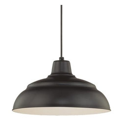 "Millennium Lighting - Millennium Lighting RWHC14 R Series 1 Light 14"" Wide Warehouse Pendant - Features:"