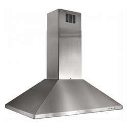 """Best - IS23SS 36"""" Island Chimney Hood with 500 CFM Internal Blower  Dual Fluorescent Li - Best brings you the IS23WH 36 Island Chimney Hood with 500 CFM Internal Blower Heat Sentry system - a smart feature that detects excessive heat and adjusts speed to high automatically Quick-release dishwasher safe stainless steel and aluminum grease ..."""