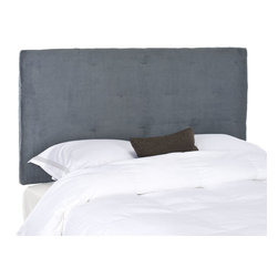 Safavieh - Safavieh Martin Grey Queen Headboard X-B0364RCM - The Martin Queen headboard will give you the decorator look of a custom piece with glamorous button tufting for extra richness.